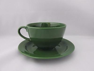 Lovely Vintage Poole Pottery Large Green Cup And Saucer