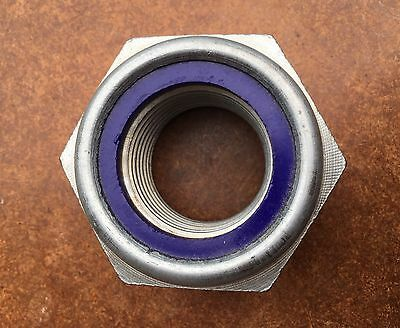 HEVVY DUTY M45 Galvanized Steel Nyloc Nut! For Art Display Or Engineering!