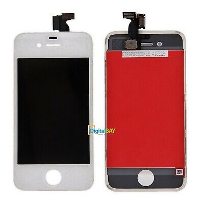 Touch Screen + Lcd Retina + Frame Per Iphone 4 4G Bianco Vetro Display Schermo
