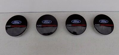New Ford Performance Logo Black Center Cap Set Mustang Focus Rs M-1096-Fp3