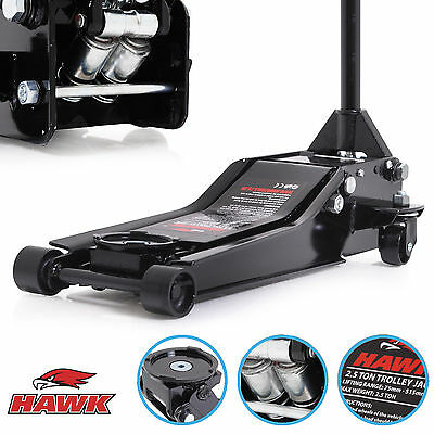 New Hawk 2.5 Ton Heavy Duty Low Profile Vehicle Car Van Garage Trolley Lift Jack