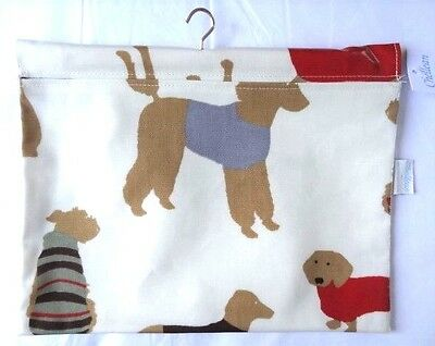 Dog Design Oilcloth Peg Bag - Made in Great Britain