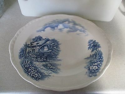 Alfred Meakin Blue & White Plate - Famous Cottages - Ann Hathaway