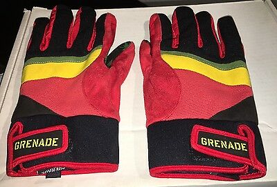 NEW Without tags Grenade Bob Gnarly Rasta Snowboard Gloves sz Large