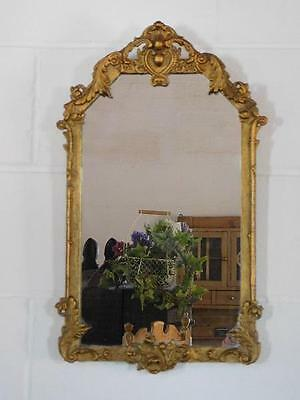 A Good Decorative French Antique Gilt Wall Mirror