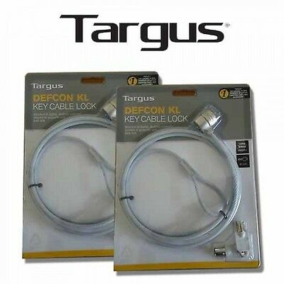2 x Targus Defcon KL KEY OPERATED Cable Lock 2 KEY