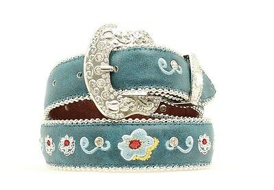 "BLAZIN ROXX - Girl's Belt 1.25"" - Embroidered Floral - Turquoise - N4416233-24"