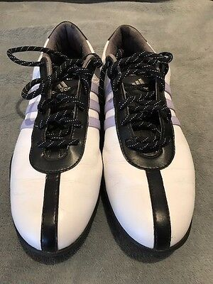 Ladies White Adidas Golf Shoes Size 6 in Great Condition