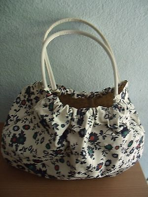 Knitting or sewing bag with handles (floral design)