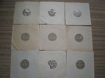Original 9 x 'Emitex' Poly Lined Inner Record Sleeves (VG / Ex cond) The Beatles