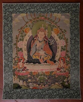 "Awesome Large Old Chinese Tibetan ""Thangka"" Paper Hand Painting Buddhas KK044"