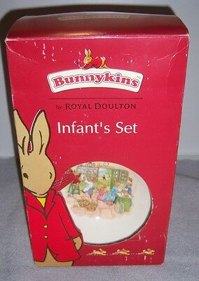 Bunnykins Infant's Set by Royal Doulton 2-Piece Set 2003 - New In Box