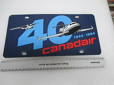 Vintage 1984 Canadair Challenger  licence plate