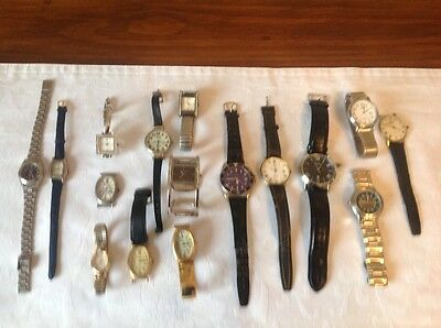 "WATCHES ""SPARES OR REPAIRS"" mixed lot"