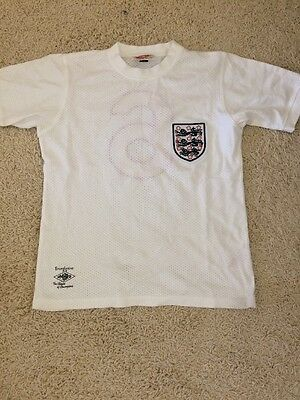 ENGLAND WORLD CUP MEXICO 1970  BOBBY MOORE (NUMBER 6) SHIRT Size:S