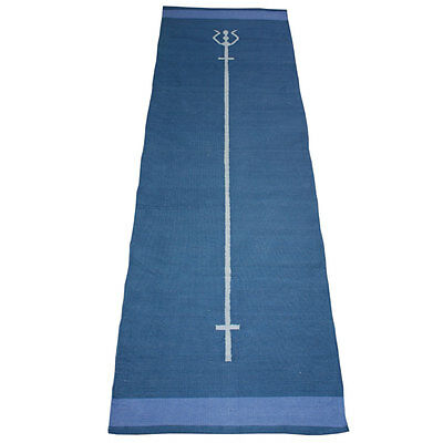Trident cotton yoga mat in execllent condition, deep blue colour. RRP £28