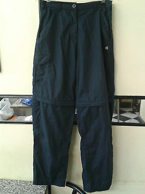 Craghoppers Women Convert to shorts Trousers Navy Size 12 Waist 28-30""