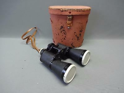 Vintage 10 x 30 OMEGA Field Binoculars Coated Lenses with Case 3 Star No. 5964