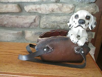 Resin Dalmatian Puppy In Pocketbook Figure