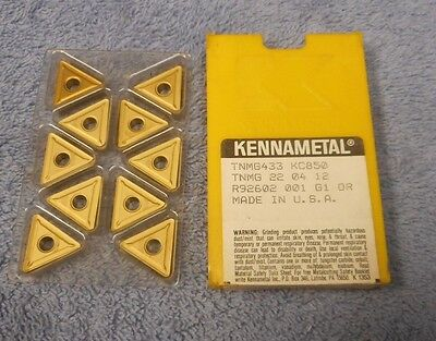 Kennametal   Carbide Inserts     Tnmg 433      Pack Of 10    Grade  Kc850