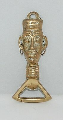 Vintage Tiki Pole Bottle Opener,brass