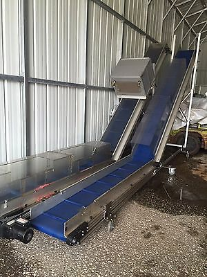 "Used HFA Model 2230 .5"" Cleated Incline Conveyor"