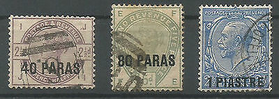 Great Britain  British Po In Turkey Constantinople Group O Stamps Used