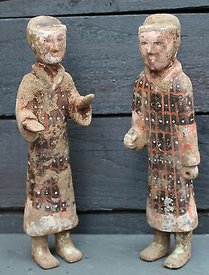 A Superb Pair Of Han Dynasty Figures