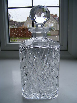 Vintage Square Cut Crystal Glass Decanter