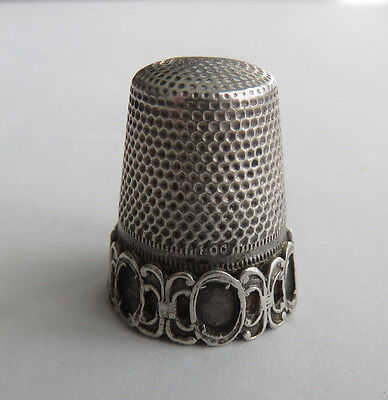 Vintage 800 Sterling Siilver Thimble Missing All Stones