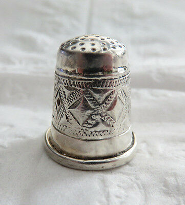 Very Nice Heavy Sterling Silver Thimble