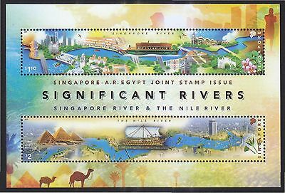 Singapore 2011 Egypt Joint Issue (Significant Rivers) Souvenir Sheet Of 2 Stamps