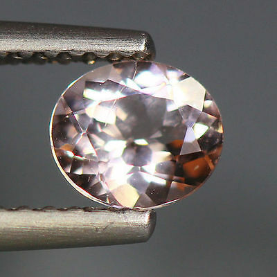 0.53 Cts_World Class Very Rare Gemstone_100% Natural Peach Pink Morganite_Brazil