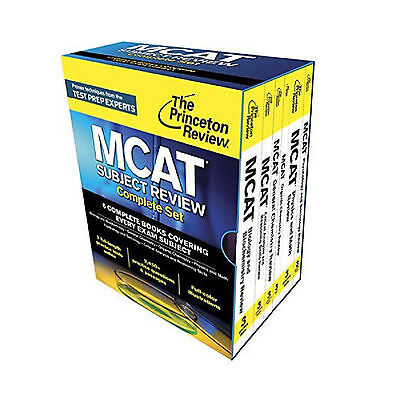 MCAT 2017: Princeton Review Complete Set & 4 New Full-Length TPR Practice Tests
