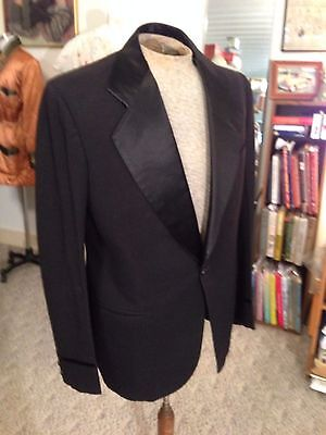 Vtg. 1930's Men's Dress Tuxedo Jacket &w/Striped Pants/Suspenders
