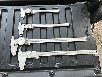 """Mitutoyo 6"""" 12"""" 8"""" Lathe Dial Calipers For Repair Or Parts South Bend Atlas"""