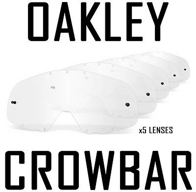 Oakley Crowbar Replacement Motocross Enduro Goggle Lenses Clear X 5