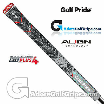 Golf Pride New Decade Multi Compound MCC Plus 4 ALIGN Standard Grips - Grey x 3