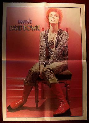 David Bowie - Vintage Sounds Magazine poster  from August 1973