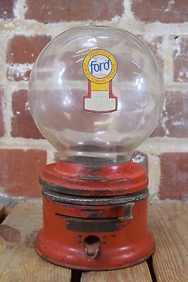 Vintage Coin Ford Gum and Machine Co Gumball Machine Gum Vending Machine