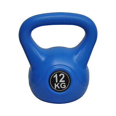 Energetics 12kg Kettlebell - Home Gym Kettlebell Weight Fitness - Grey