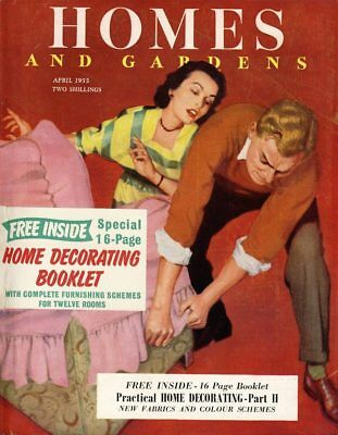 Homes and Gardens April 1955 Vintage Magazine with Decorating Booklet ref1009