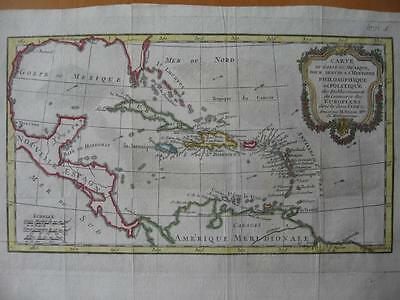 1774 - BONNE - Small map WEST INDIES  CUBA  Gulf of Mexico  FLORIDA