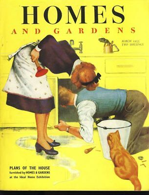 Homes and Gardens March 1955 Vintage Magazine ref1008
