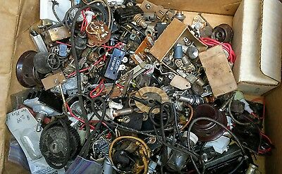 Vintage Radio Ham and Other Parts HUGE BOX LOT
