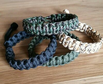 Paracord Bracelet, Choice Of Colours, Adjustable, Army, Survival, Camping,,