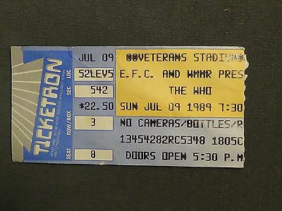 The Who concert ticket stub 1992 Pittsburgh Civic Arena