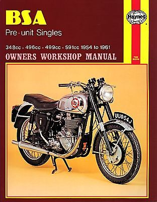 0326 Haynes BSA Pre-unit Singles (1954 - 1961) Workshop Manual