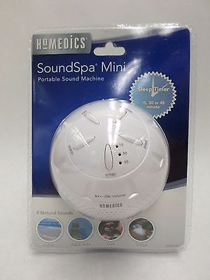 Portable Sound Machine SoundSpa Mini with Sleep Timer White by HoMedics New