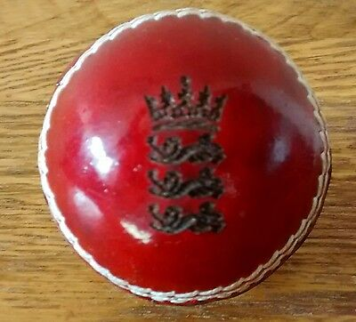 """Laser Engraved England Crest Red Leather Cricket Ball,Size 2"""" Dia. @ £4.95p !"""